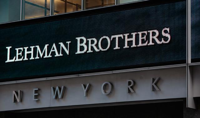 Firmeneingang Lehman Brothers