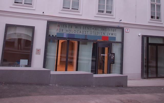 Eingang des neuen Wiesenthal Instituts