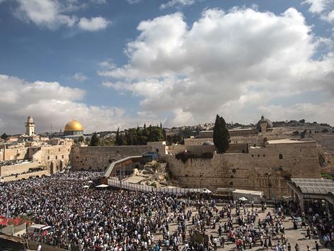 Jerusalem mit Felsendom und Klagemauer