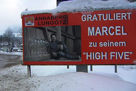 Tafel für Marcel Hirscher in Annaberg