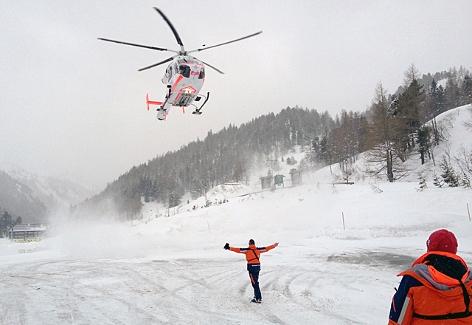 Kräfte der Bergrettung im Rahmen einer Rettungsaktion