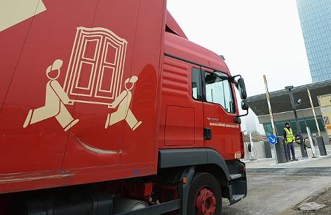 Lastwagen eines Umzugsunternehmens
