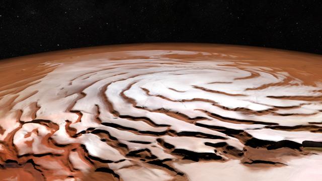Polkappe des Mars
