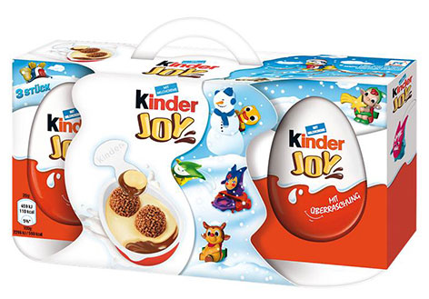 Kinder Joy 3er Packung mit Winterlayout