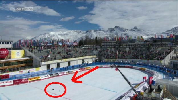 Seilkamera fällt bei Ski-WM in St. Moritz zu Boden