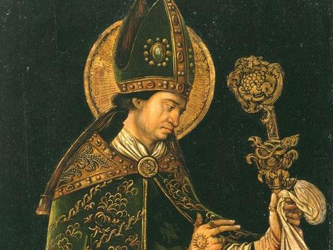 Abbildung des heiligen Valentin von Terni (etwa 1510). Momentaner Standort: Veste Coburg, Deutschland