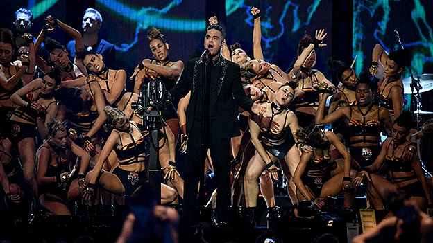Robbie Williams bei den Brit Awards