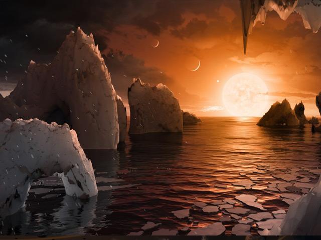 Illustration der Oberfläche eines der Planeten