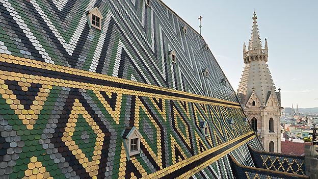 Dach des Stephansdoms in Wien