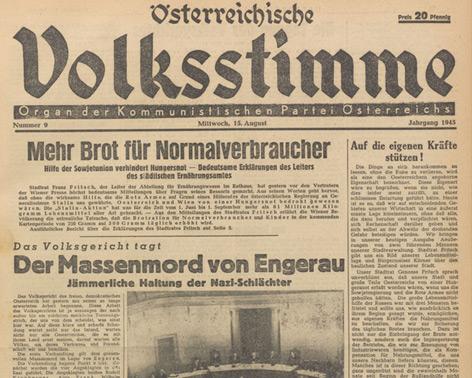Titelseite vom 15. August 1945