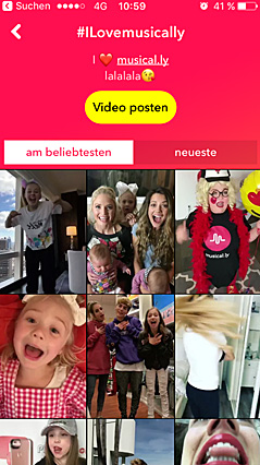 Screenshot Musical.ly