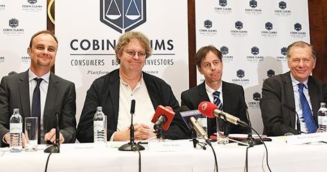 Cobin-Gründungsmitglieder Oliver Jaindl, Peter Kolba, Manfred Biegler und der Vorsitzende des Investoren-Beirats Wilhelm Rasinger (v.l.n.r.)