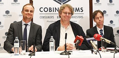 Cobin-Gründungsmitglieder Oliver Jaindl, Peter Kolba und Manfred Biegler (v.l.n.r.)