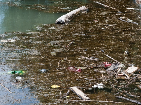 Plastikmüll in der Donau