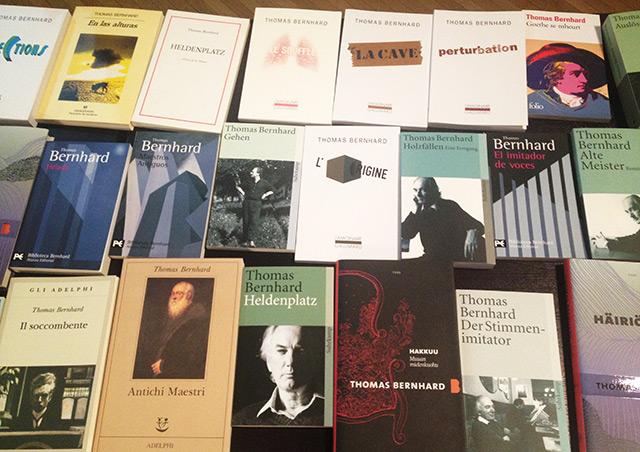 Übersetzungen: Bücher von Bernhard in verschiedenen Sprachen
