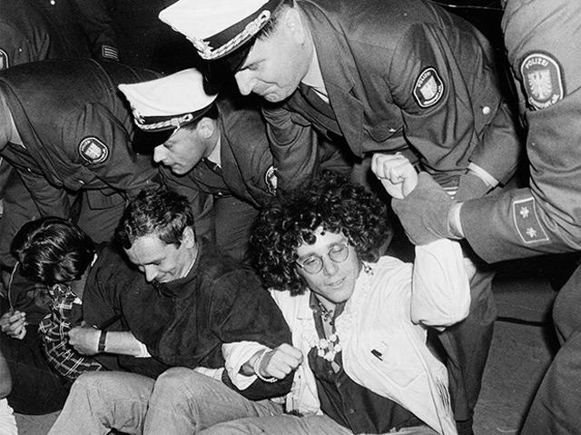 6. September 1967: Langhans bei einer Demonstration gegen den Vietnamkrieg in Berlin