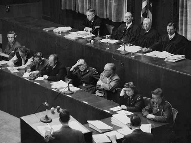 Die Richter im Nürnberger Ärzteprozess 1947