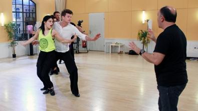 Gruppenprobe der Herren mit Choreograf Ferdinando Chefalo