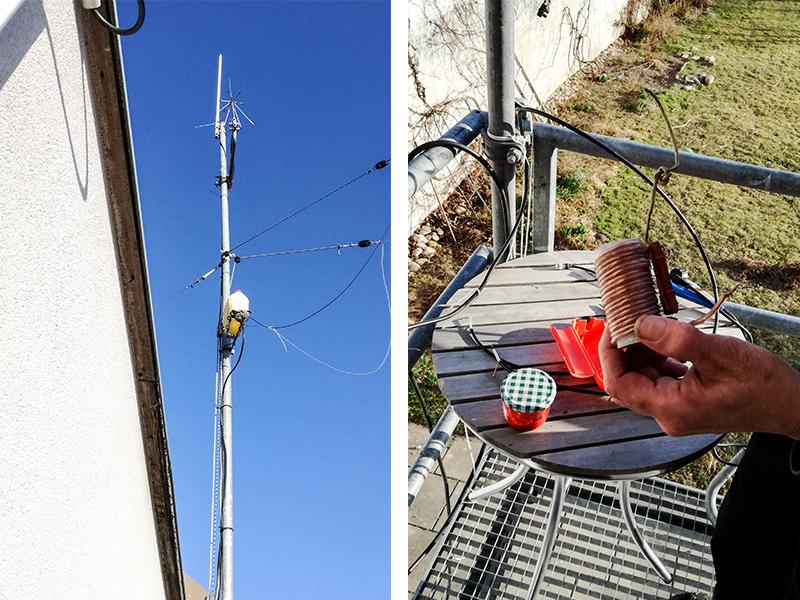 Junkyard-Antenna und DIY-Spule