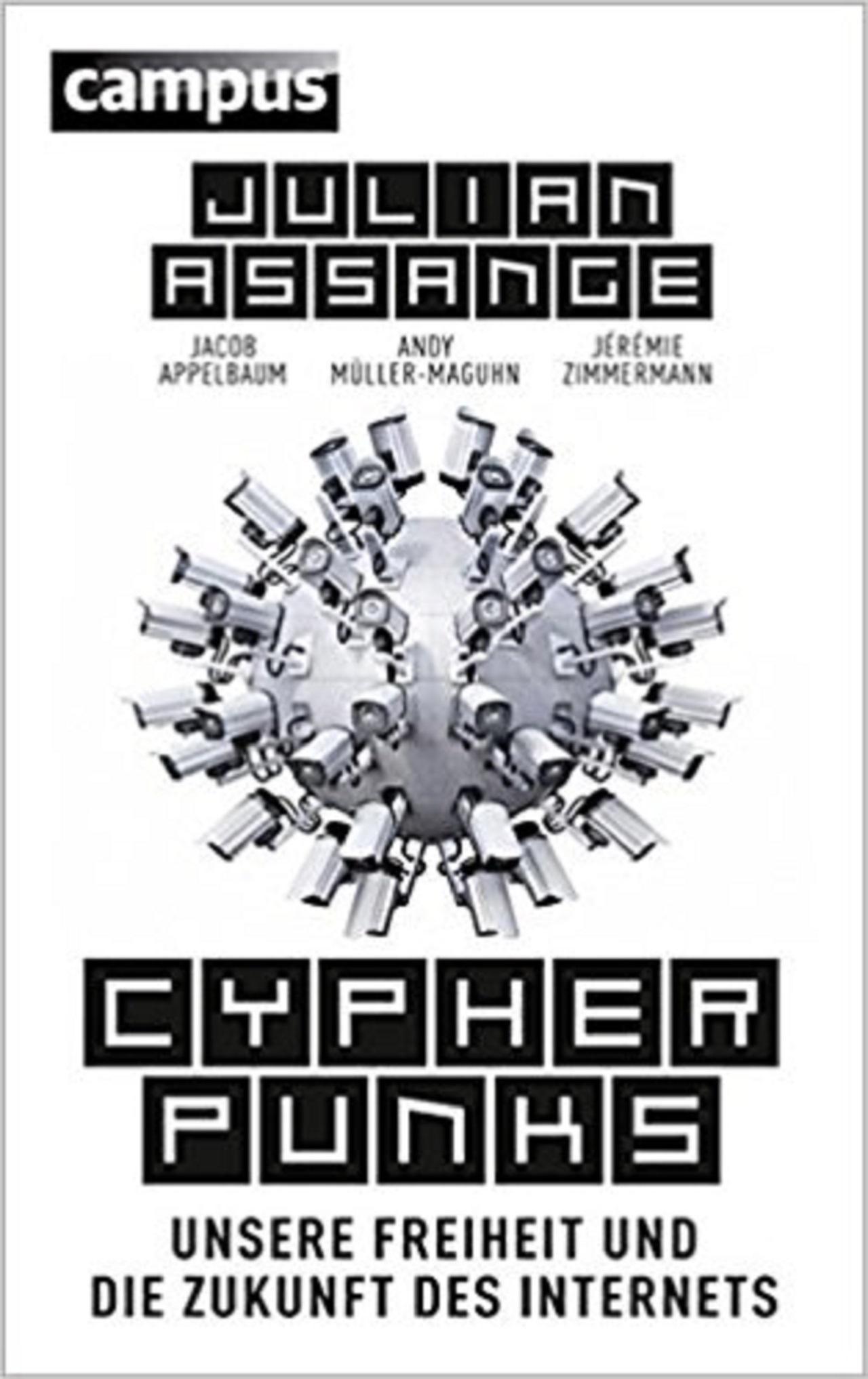 """Buch von Julian Assange: """"Cypherpunk"""", Campus"""