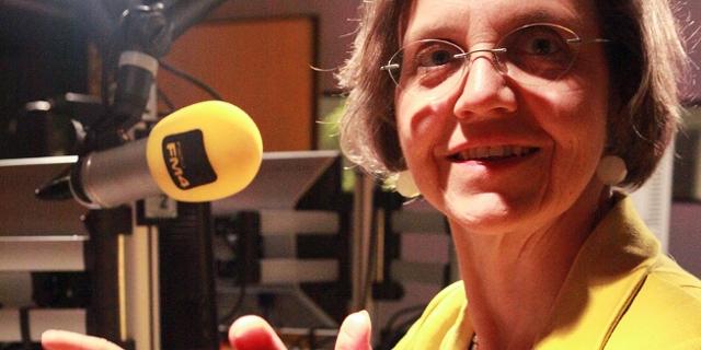 Verena Winiwarter im Funkhaus mit Elisabeth Scharang
