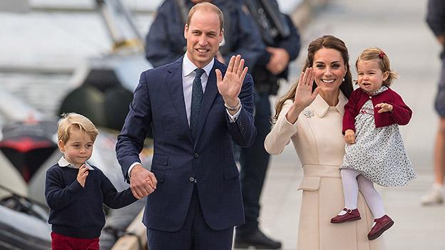 Prinz William und Herzogin Catherine mit ihren Kindern George und Charlotte