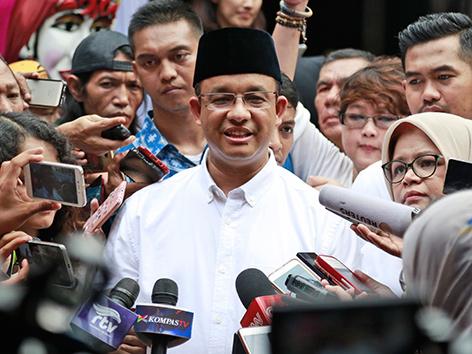 Anies Baswedan, neuer Gouverneur von Jakarta, Indonesien