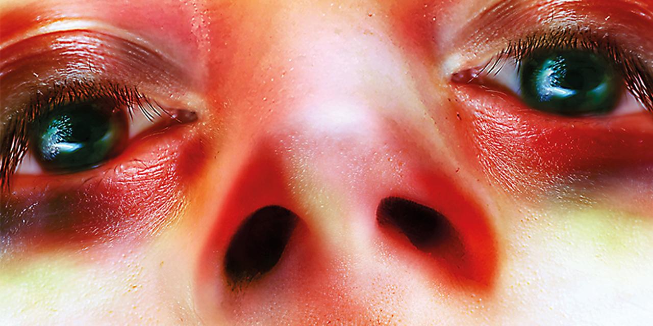 Augen und Mund