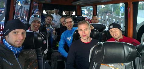 Challenge-Teilnehmer im Ö3-Marathon-Challenge-Bus