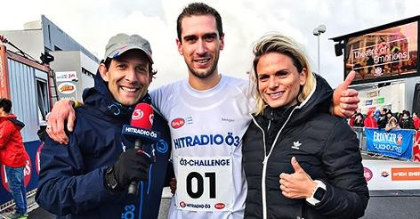 Tom Walek, Lissi Niedereder und Startläufer Mario Sturmlechner