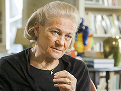 Die französische Philosophin Elisabeth Badinter
