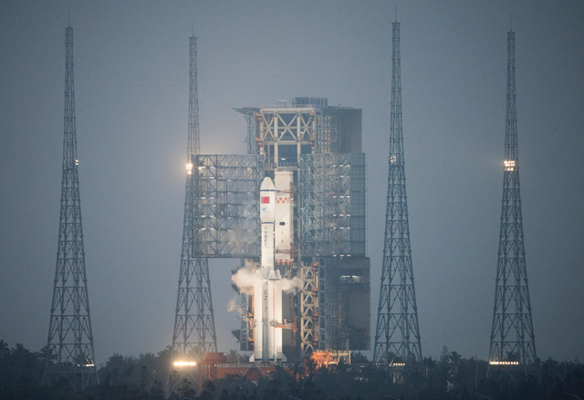 Tianzhou-1 vor dem Start