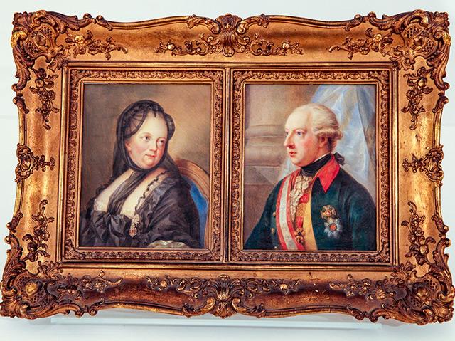 Gemälde von Maria Theresia und Joseph II., Bezirksmuseum Wien.