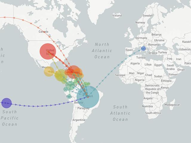 Grafik: Die Verbreitungswege von Zika
