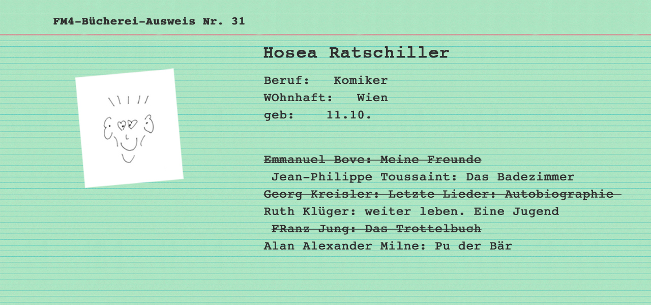 büchereikartei nr 31 hosea ratschiller