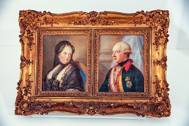 Gemälde von Maria Theresia und Joseph II.