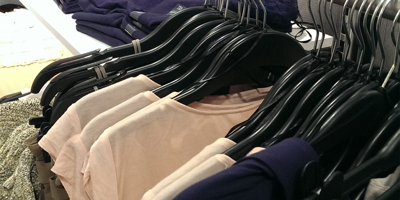 Cheap clothes in a chain store