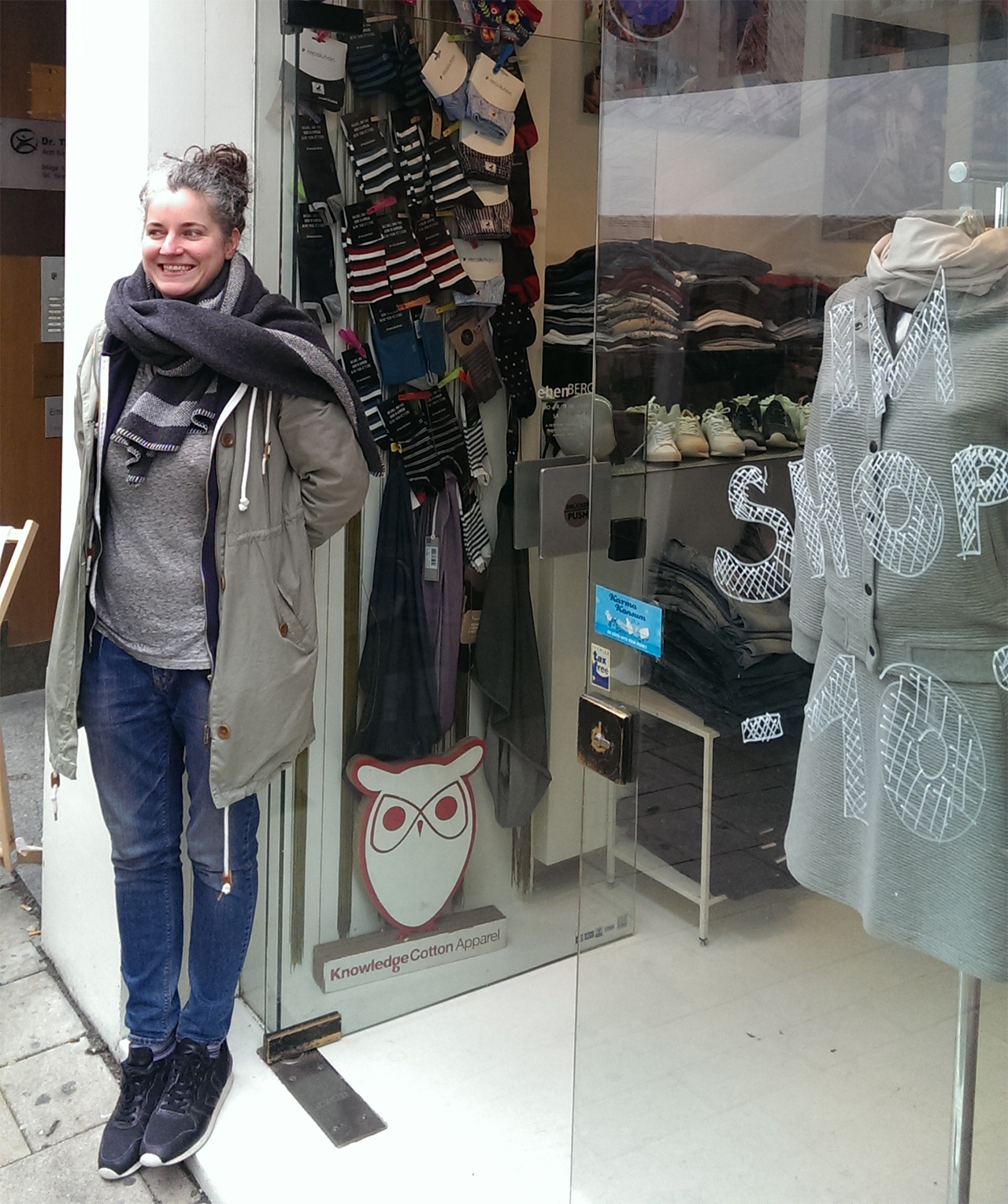 Laura Ebenberger in front of her shop