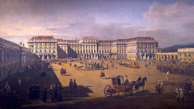 Hitstorisches Gemälde: Schloss Schönbrunn
