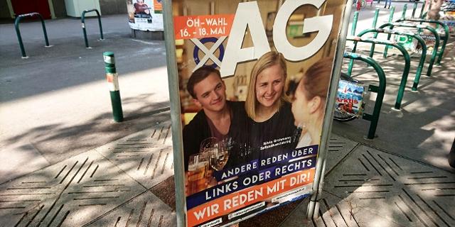 ein Wahlplakat der Aktionsgemeinschaft