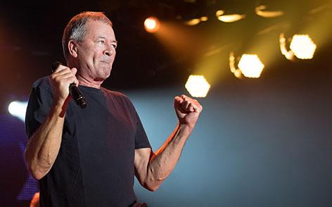 Ian Gillan von Deep Purple auf der Bühne