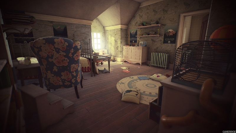 Leere raum aus dem Game What Remains of Edith Finch