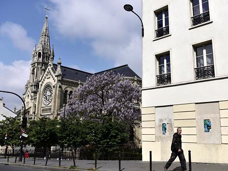 Kirche Eglise Notre-Dame-de-la-Croix de Menilmontant in Paris