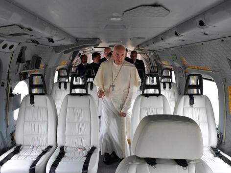 Papst Hubschrauber