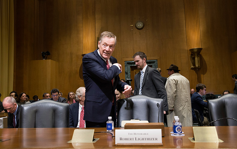 LIghthizer vor seinem Senatshearing