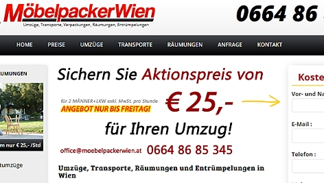 Screenshot moebelpackerwien.at