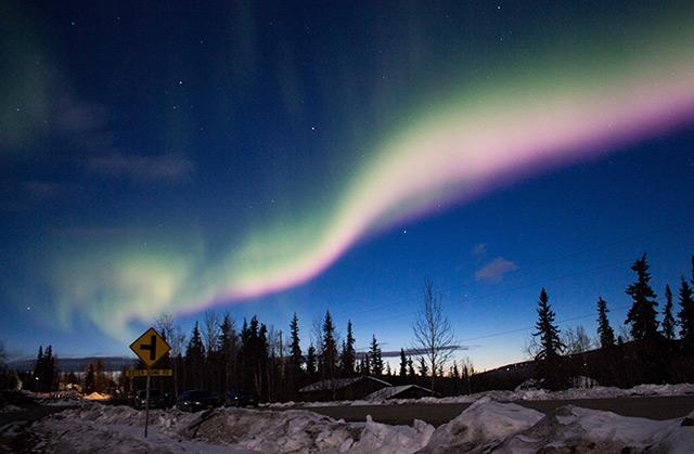 Wetterleuchten in einer Polarregion