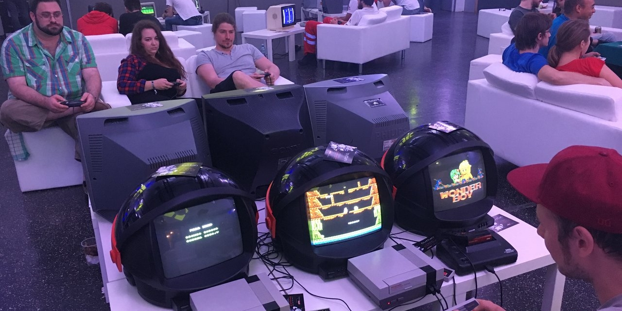 Retro-Games bei der Button Graz