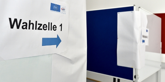 Wahlzelle bei der ÖH Wahl