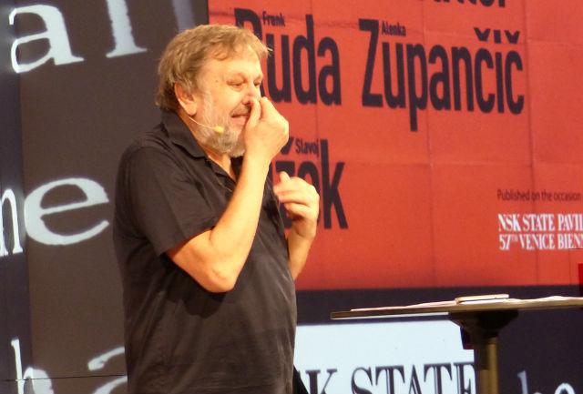 Slavoj Zizek bei seinem Vortrag bei den Wiener Festwochen